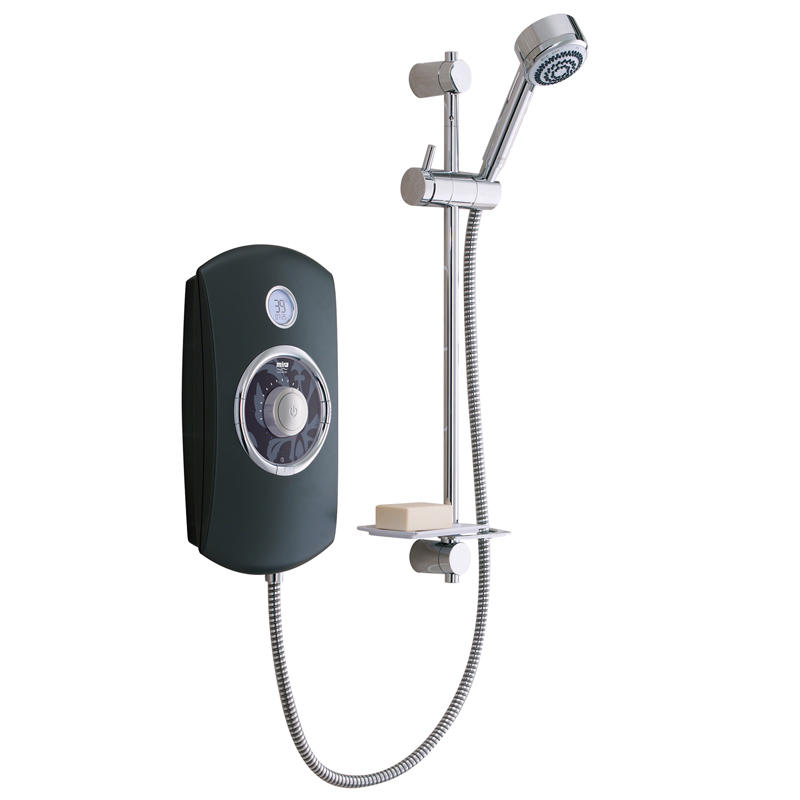 View Item Mira Orbis 9.8KW Thermostatic Electric Shower Black &amp; Chrome